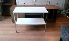 Pel Medical Trolley. White and chrome - adjustable shelf - reduced! Ref 2205