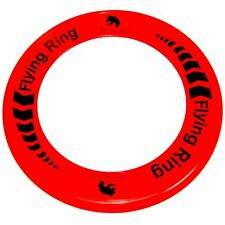 Red Flying Ring - Fun Outdoor Summer Toy - Disc Frisbee Type Beach Garden Toy