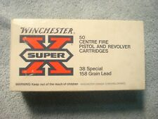 Vintage EMPTY WINCHESTER 38 SPECIAL SHELL BOX Center Fire Cartridge Cobourg On