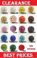 Pave Disco Polymer Clay Rhinestone Ball Beads 10mm Hole:1.5mm Shamballa (1I)