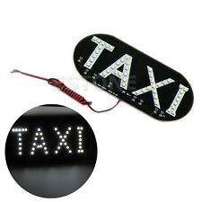 Auto Vehicles Car Windscreen Cab Sign White 12V LED Taxi Light Lamp
