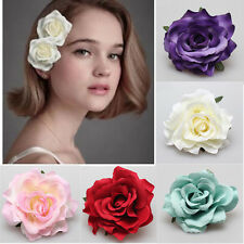 Fashion Bridal's Rose Flower Hairpin Brooch Wedding Bridesmaid Party Hair Clip F