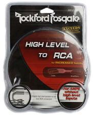 Rockford Fosgate RFI2SW High to Low Level Male RCA Converter Adaptor RFI2SW NEW
