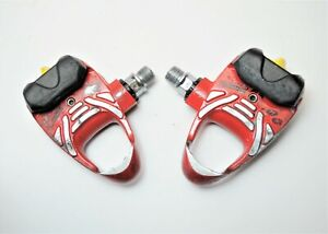 VINTAGE LOOK FREE ARC BICYCLE RED CLIPLESS ALLOY ROAD PEDALS  9/16 X 20 TPI