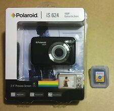 NEW SEALED - POLAROID iS 624 16MP DIGITAL PHOTO CAMERA + KODAK 2 GB SD CARD