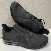 Nike Air Max Sequent 3 Running Shoes Men's Size 11 (921694-010) Black/Anthracite