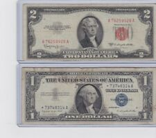 1957 $1 silver certificate STAR &1953C $2 Dollar Red Seal Note & 1  lot of 1 ea