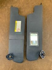 1997-1999 FORD F150 LEFT AND RIGHT SUN VISOR SET CLOTH OEM BLUE RARE COLOR!