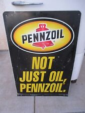 "PENNZOIL Double sided Curb Advertising Oil Gas Station Sign Stout 36"" x 24"""