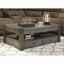 Ashley Furniture Coffee Table In Grayish Brown Lift Top With Drawer Storage Home