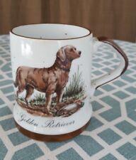 Vintage 70's English Pointer Bird Dog Brown Speckled Ceramic Mug
