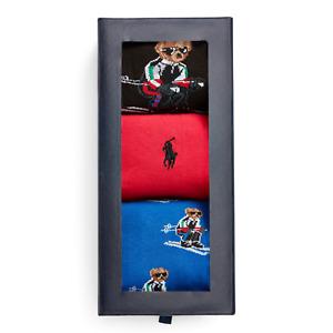 Polo Ralph Lauren Men's Polo Bear Skiing Sock Set