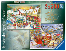 RAVENSBURGER PUZZLE*2 x 500 TEILE*CHRISTMAS COLLECTION NO 1*WEIHNACHTEN*RAR*OVP
