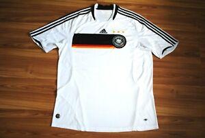 XXL GERMANY NATIONAL TEAM 2008-2009 HOME FOOTBALL SHIRT JERSEY TRIKOT WHITE 2XL