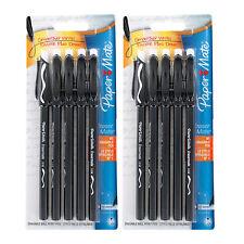 10 Papermate Eraser Mate Black Medium Erasable Pens