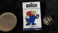 Fussball Pin Badge France 98 Frankreich WM 1998 Braun Sponsor