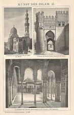 B0233 Arte Islamica - Xilografia d'epoca - 1902 Vintage engraving