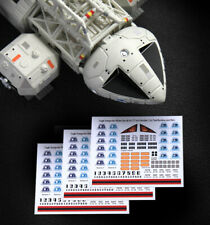 """3 x SPACE 1999 EAGLE TRANSPORTER - STICKER DECALS - MPC & PE - 12"""" Models"""