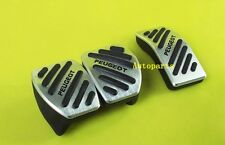 NO drill Foot Fuel Brake Clutch MT Pedal Pad Cover For Peugeot 207 208 301 307