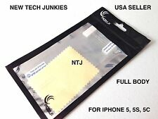 NTJ full body SCREEN PROTECTOR/cloth lcd thin hd clear guard for IPHONE 5 5s 5c