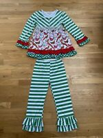 Miss Priss Christmas Holiday Winter Girls Boutique Outfit Twirl Top Ruffles CUTE