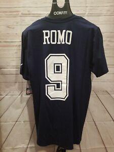 TONY ROMO XL NIKE SHIRT COTTON NFL FOOTBALL NAVY NEW MENS PLAYER TEE NAVY