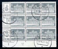 Berlin MiNr. 140 y DZ 12 gestempelt im 9er Block (W2924