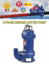 Three Phase 415V Industrial Grade Submersible Sewage Cutter Shredder Pump
