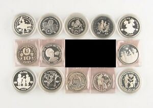 1979-1980 International Year of the Child Coins Lot (13) PF Proof United Nations
