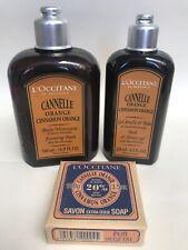 L'OCCITANE CINNAMON CANNELLE ORANGE SHOWER GEL, BUBBLE BATH, Shea SOAP GIFT SET