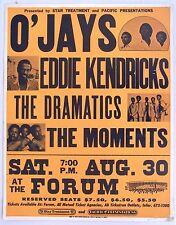 Boxing Style Poster O'Jays, Eddie Kendricks, Dramatics, Moments, LA Forum, 1975