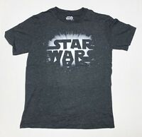 Star Wars - Space Logo - Men's X-Large Charcoal Grey T-Shirt  Graphic Tee  XL
