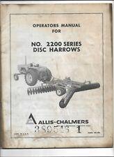 Original Allis Chalmers Form Tm436 Operators Manual For 2200 Series Disc Harrows