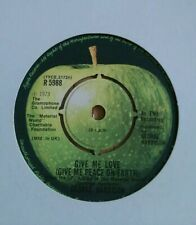 """GEORGE HARRISON - 7"""" Vinyl - Give Me Love (Give me Peace on Earth) Apple 1973"""