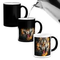 Roaring Tiger Beautiful .Novelty Heat Colour Changing Mug