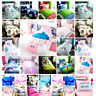 Kids Single Duvet Quilt Cover Set Fitted Sheet Pillowcase Boys Girls Many Design