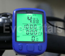 BLUE EVORIDER DIGITAL BICYCLE CYCLE COMPUTER BIKE SPEEDO SPEEDOMETER + BACKLIGHT
