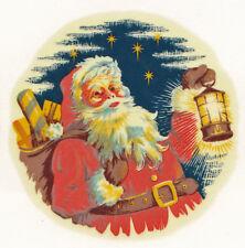 Ceramic Decals Vintage Christmas Santa with Lantern