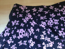 JUPE SKULLS 34 36 PUNK GOTH ROCK TBE H&M HM Vintage retro skirt DIVIDED
