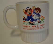 1976 Bobs Merrill Co. Raggedy Ann & Andy ~ Coffee Cup Mug ~ Childs