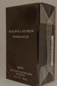 """❤️RALPH LAUREN ROMANCE MEN 3.4OZ 100ML,SEALED,2002""""VERY HARD TO FIND!!!"""