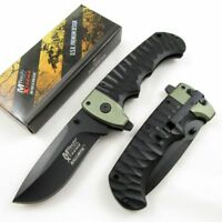 SPRING-ASSIST FOLDING POCKET KNIFE | Mtech Heavy Black Green G10 Tactical EDC