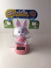 Solar Power Dancing Toy Pink Rabbit Home Car Decor Gift