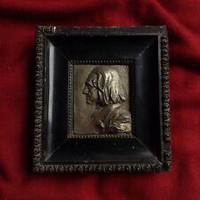 Antique Piano Composer Liszt 1930s Franz Stiasny Bronze Portrait Medal Austria