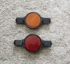 Vintage Gulco 22/24 Bicycle Wheel Reflectors – Red / Orange – Black Housings