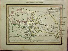 1832 SMALL ANCIENT MAP ORBIS SECUNDUM STRABONEM EUROPA LIBYA ASIA ARABIA SCYTHIA