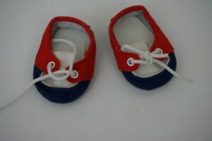 American Girl Bitty Twin Boy Boat Shoes ONLY from Nautical Shorts Set Red White