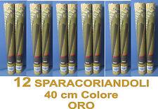SPARACORIANDOLI 40 cm. ORO 12 Pz. in STOCK PARTY FESTA PROMOZIONE LIMITATA