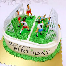 8PCS/Set PVC Soccer Football Cake Topper Player Decor Tool Birthday Mold Mould