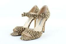 MANOLO BLAHNIK Caldo Leopard Cheetah Mary Jane Sandal 1MR1121